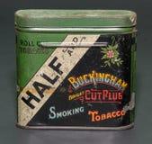 Antique tobacco tin cigarettes Stock Photo