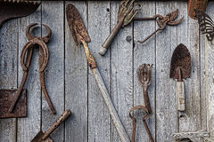 Antique Tool Wall Royalty Free Stock Photo