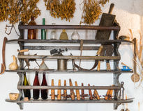 Antique tools and household items Royalty Free Stock Images