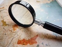 Antique topographic map stock photo