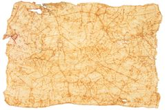 Antique torn paper. Antique torn paper isolated on white royalty free stock image