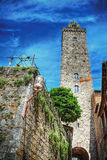 Antique tower in San Gimignano Stock Photography