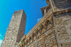 Antique tower in San Gimignano Royalty Free Stock Image