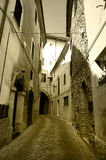 Antique town alley Royalty Free Stock Photo