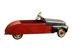 Antique toy car. Isolated on a white background Stock Image