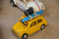 Antique toy cars Stock Photography