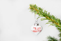 Antique toy on Christmas tree. Royalty Free Stock Images