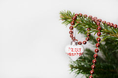 Antique toy on Christmas tree. Stock Photos