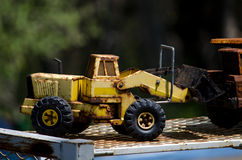 Antique toy front end loader Stock Photo