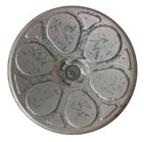 Antique Toy Wheel Hub. This is a closeup image of a very old antique wheel hub isolated Royalty Free Stock Images