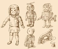 Antique toys collection Stock Photography