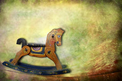 Antique toys, rocking horse Stock Photography