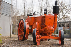 Antique tractor. Used as outdoor decoration Stock Photography