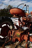 Antique Tractor. Antique 1947 tractor on farm in winter royalty free stock image