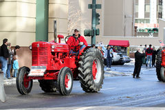 Antique Tractor. Entry in annual Stock Show Parade on January 13, 2009 in Denver, Colorado Royalty Free Stock Photos