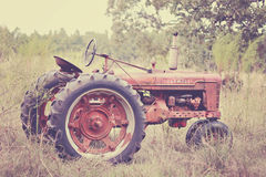 Antique Tractor 1949. This is an antique tractor from 1949 stock image