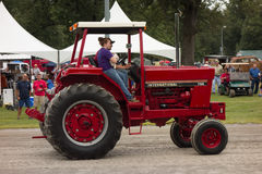 An antique tractor at an annual agricultural event in paducah Royalty Free Stock Photo
