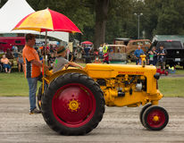 An antique tractor at an annual agricultural event in paducah Royalty Free Stock Photos