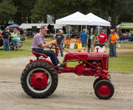 An antique tractor at an annual agricultural event in paducah Stock Photo