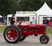 An antique tractor at an annual agricultural event in paducah Stock Photography