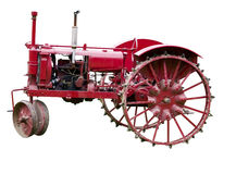 Antique Tractor Isolated Royalty Free Stock Photos