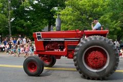 Antique Tractor in parade Royalty Free Stock Photos