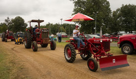Antique tractors at an annual agricultural event in paducah Royalty Free Stock Photos