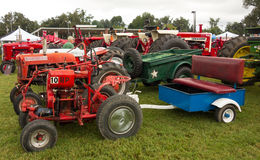 Antique tractors at an annual agricultural event in paducah Royalty Free Stock Photography