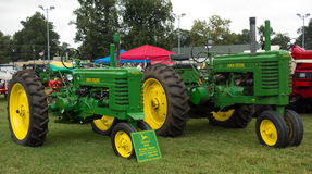 Antique tractors at an annual agricultural event in paducah Stock Photos