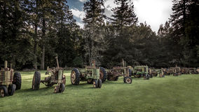 Antique Tractors in a Field Stock Photos