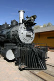 Antique Train. An antique locomotive parked at the train depot Royalty Free Stock Photos