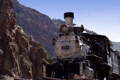 Antique Train. Photographed in Gunnison, Colorado stock photography