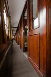Antique train interior Royalty Free Stock Image