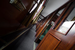 Antique train interior Royalty Free Stock Photo