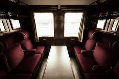 Antique train interior Stock Photo