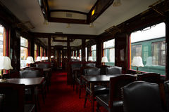 Antique train interior Royalty Free Stock Images