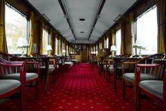 Antique train interior Stock Image