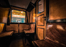 Antique train interior Royalty Free Stock Photos