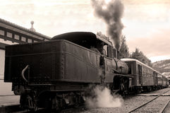 Antique train parked Royalty Free Stock Photos