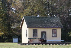 Antique train station. Replica of an early train station stock photo