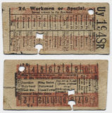 Antique Train Ticket Stock Photos