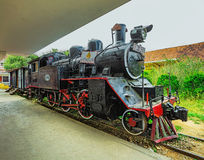 Antique train transport tourist to visit in Dalat Royalty Free Stock Photo