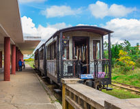 Antique train transport tourist to visit in Dalat Royalty Free Stock Image