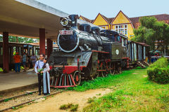 Antique train transport tourist to visit in Dalat Royalty Free Stock Photography