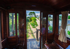 Antique train transport tourist to visit in Dalat Stock Photography