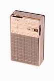 Antique transistor radio closeup Royalty Free Stock Photos