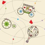 Antique Transportation Pattern. Stylized vintage pattern of Antique transportation. Eps10 royalty free illustration