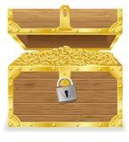 Antique treasure chest vector illustration Stock Photos