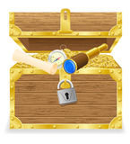 Antique treasure chest vector illustration Stock Image