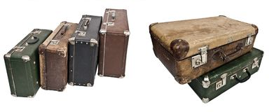 Antique treasure chests. Royalty Free Stock Image